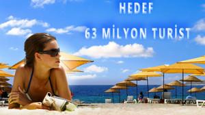 Hedef, 63 milyon turist!