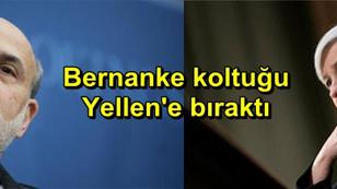 Bernanke koltuğu Yellen'e bıraktı