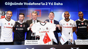 Beşiktaş ile Vodafone sponsorluğu yenilendi