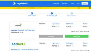 Elektrik tedarikçileri online platformda