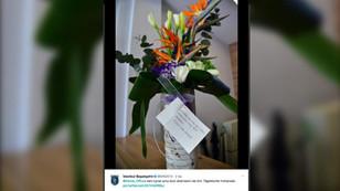 Van Persie'den Mahmut Tekdemir'e 'özür çiçeği'