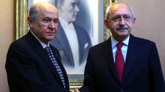 Bahçeli ve Kılıçdaroğlu görüşmesi bitti