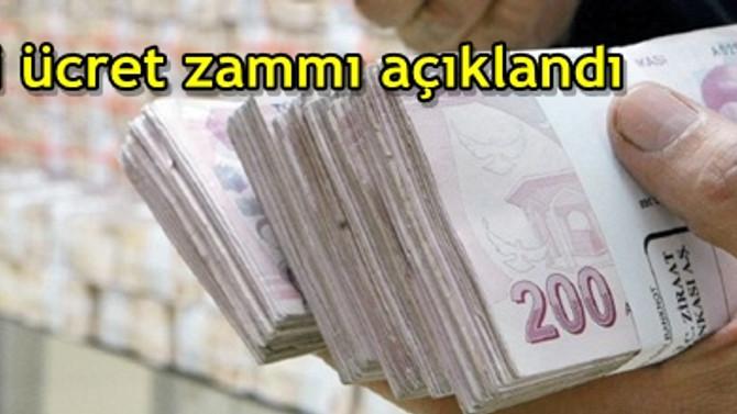 Asgari ücret zammı açıklandı