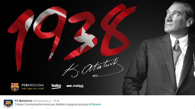 Barcelona Atatürk'ü andı