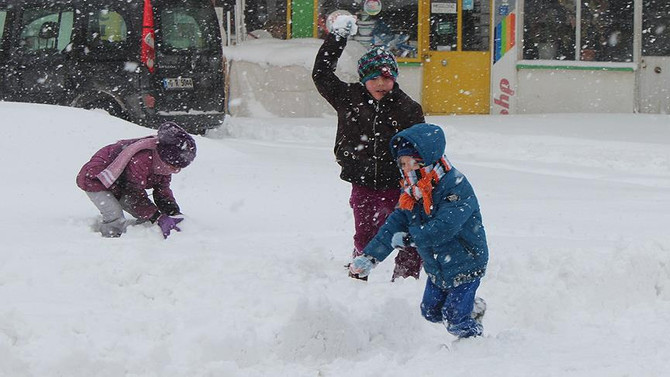 İstanbul ve 19 ilde kar tatili