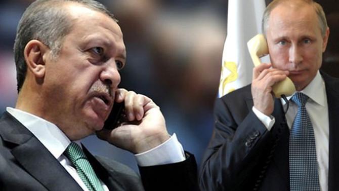 Erdoğan ile Putin telefonda görüştü