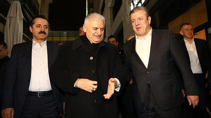 Yıldırım, Gürcistan Başbakanı ile görüştü
