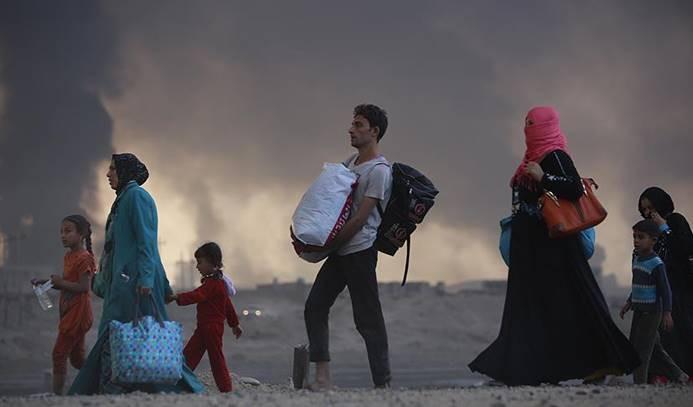 Musul çevresinden 4 bine yakın kişi göç etti