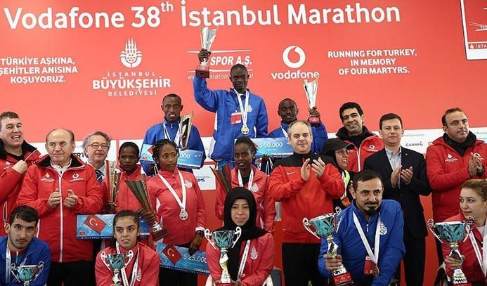 Vodafone 38. İstanbul Maratonu'nun kazananı belli oldu