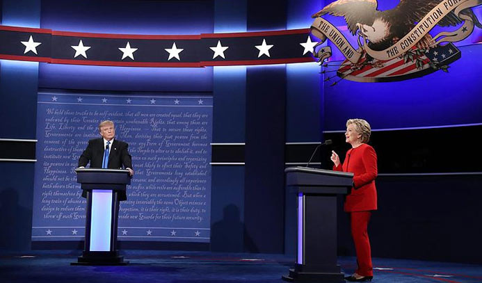 Clinton ve Trump canlı yayında karşı karşıya geldi