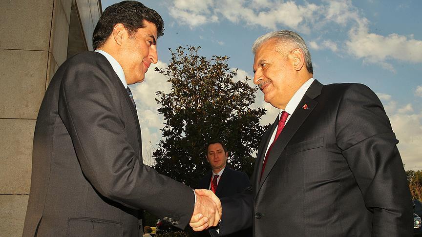 Yıldırım, Barzani ile görüştü