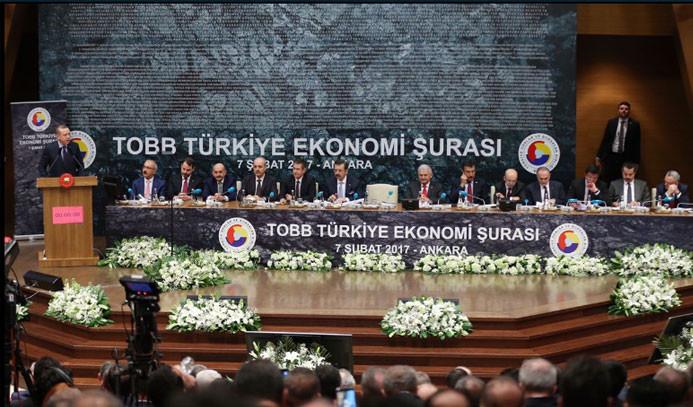 Erdoğan, TOBB Ekonomi Şurası'nda işsizliğe karşı seferberlik ilan etti