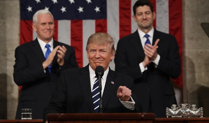 Trump Kongre'deki ilk konuşmasını yaptı