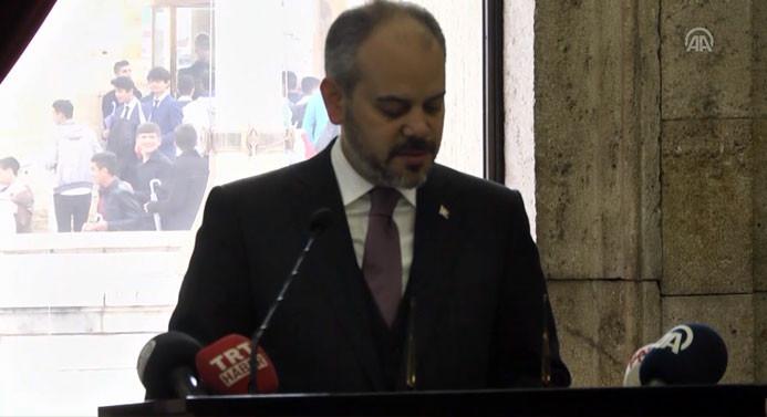 Gençlik ve Spor Bakanı Akif Çağatay Kılıç Anıtkabir'i ziyaret etti