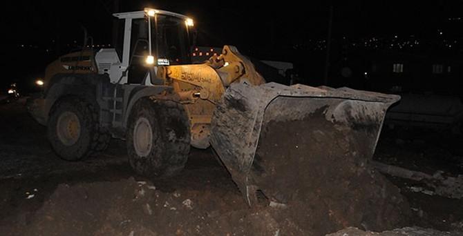 Cizre'de hendekler kapatıldı