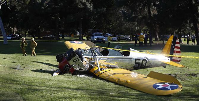 Ünlü aktörün kullandığı uçak düştü