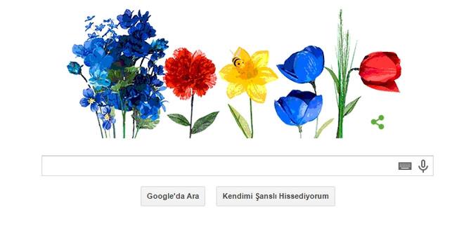 Google'dan bahara özel doodle