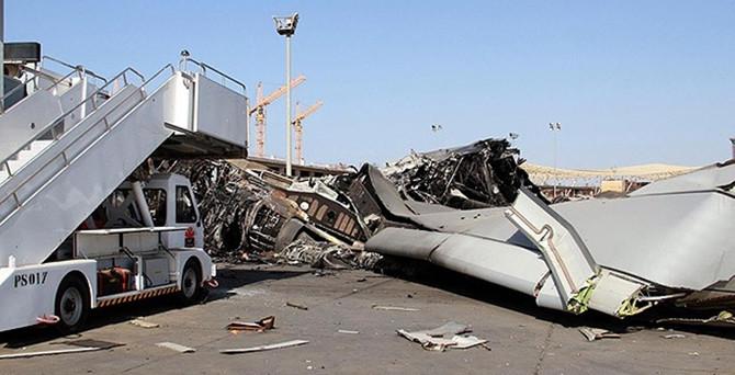 Libya'da havaalanına bombalı saldırı