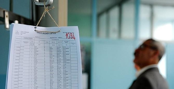 Seçmen listeleri için son saatler