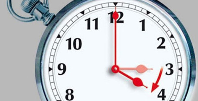 Saatlerinizi ayarlamayı unutmayın