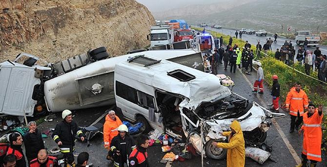 Şanlıurfa'da zincirleme kaza: 13 ölü