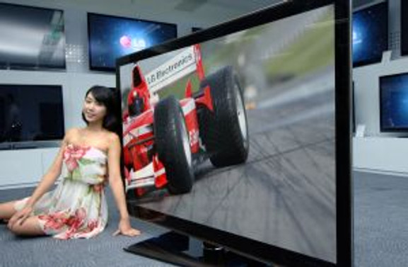 En büyük 3D Full LED TV'yi LG üretti