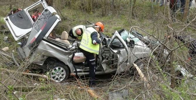 TEM'de korkunç kaza: 4 ölü, 4 yaralı