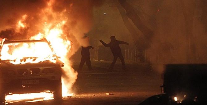 Komşu'da polis ile eylemciler çatıştı
