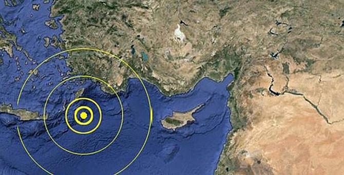 Akdeniz'de 4.4'lük deprem