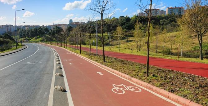 Maslak'ın ortasına bisiklet kenti kuruluyor!