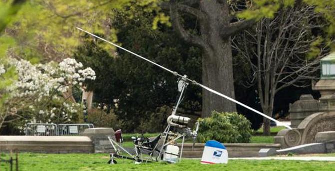 ABD'de korkulu anlar: Kongre bahçesine helikopter indi
