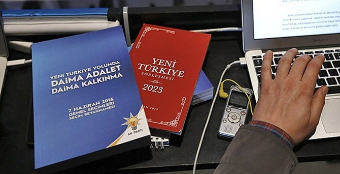 AK Parti'nin seçim beyannamesi yayımlandı