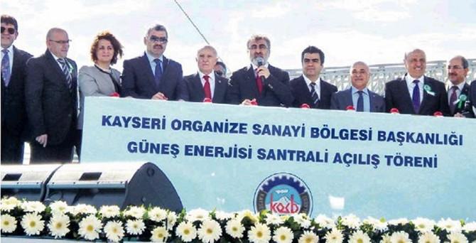 Kayseri OSB'den güneş enerjisi santrali