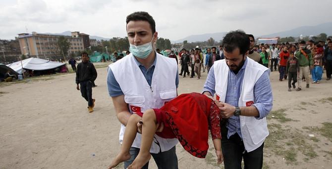 Türk arama-kurtarma ekipleri Nepal'de