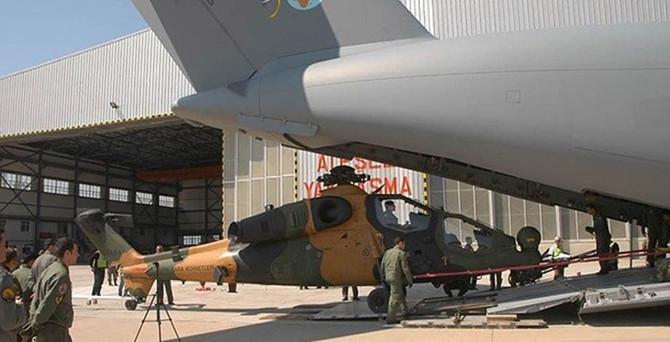 """""""Atlas"""" ilk kez 'milli helikopteri' taşıdı"""