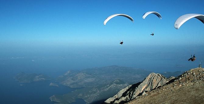 Ölüdeniz'de yamaç paraşütü hedefi büyük