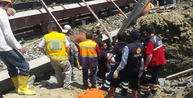 Baraj inşaatında kaza: 1 işçi göçük altında!