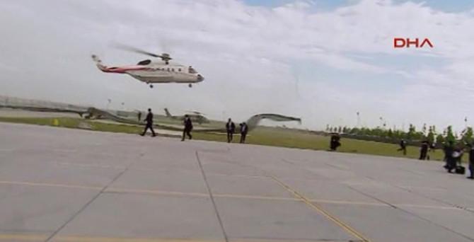 Erdoğan'ı taşıyan helikopter son anda inmekten vazgeçti