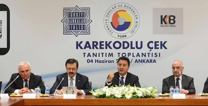 'Karekodlu çek' 15 Haziran'da başlıyor