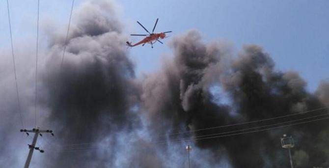 Silivri'de fabrika yandı