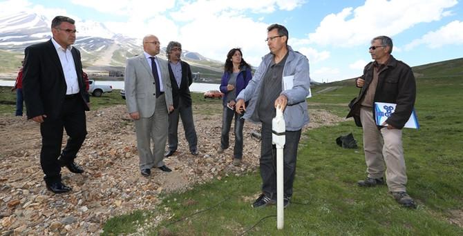 Erciyes Dağı'nda termal su arama çalışmaları sürüyor