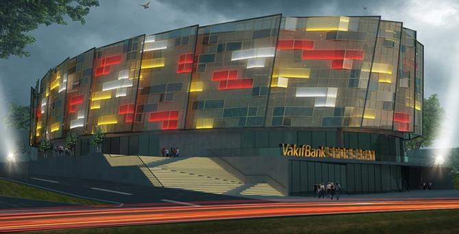 VakıfBank spor sarayı  yükselmeye başlıyor