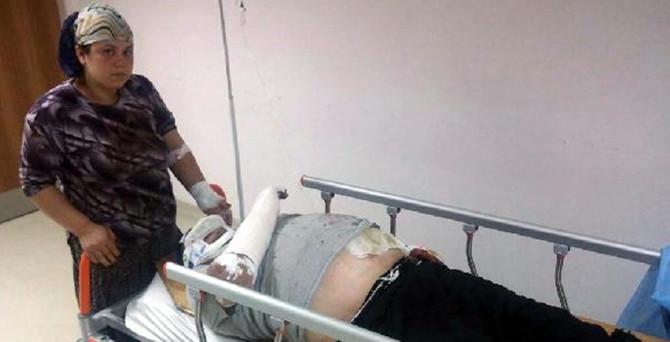 Yaban domuzunun saldırdığı çift yaralandı