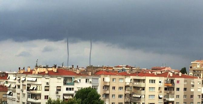 İzmir'de korkutan hortum!