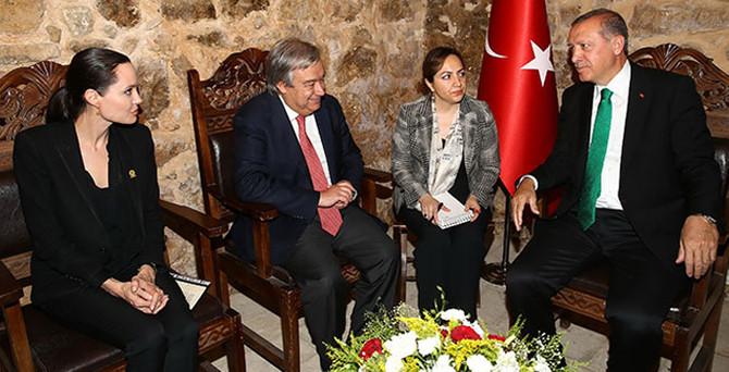 Erdoğan, Angelina Jolie ile görüştü