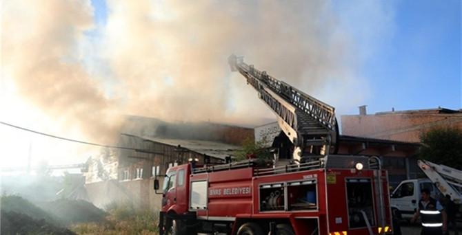 Sivas'ta depo yangını