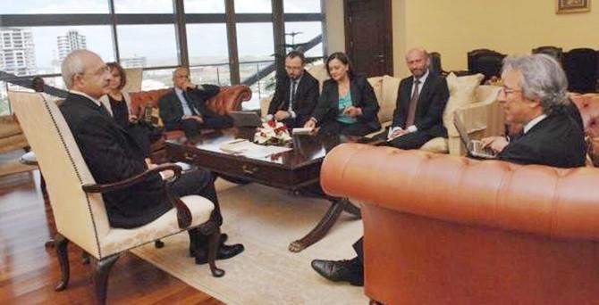 Kılıçdaroğlu, Cumhuriyet Gazetesi heyetini kabul etti