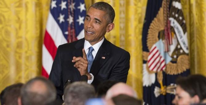 Sözü kesilen Obama'dan sert tepki
