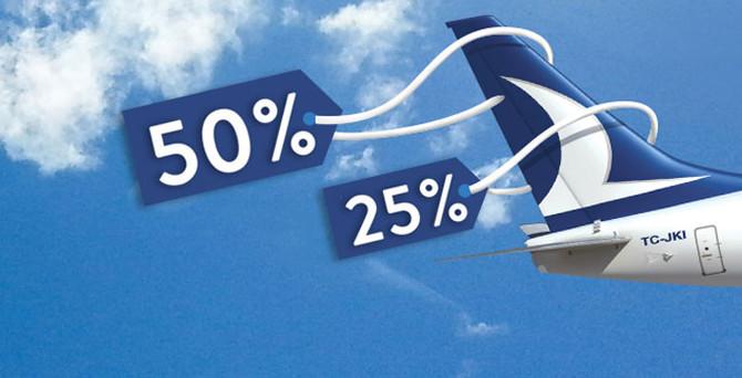 Anadolu Jet'le yüzde 50 indirimli uçma fırsatı