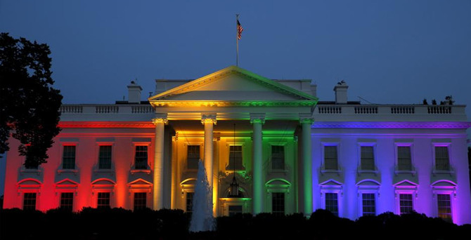 Beyaz Saray rengarenk oldu